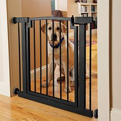 Our wide metal dog gate offers a chew- and scratch-proof solution. If your dog is prone to chewing on wooden gates, this wide metal gate is the solution.
