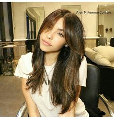 Hair♥ Hair♥ Related posts: Stunning hair color ideas for long hairstyles in 2018 DIY Hair Tutorial Video Exclusive short, edgy hair cuts with a long bangs that will make you … – … I could see doing this with curled hair to add volume. Side Bangs With Long Hair, Long Haircuts With Bangs, Long Hair Cuts, Hairstyles With Bangs, Pretty Hairstyles, Long Bangs, Side Fringe Hairstyles, Bangs For Round Face, Hairstyles 2016