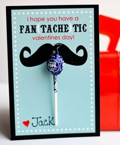 DIY Mustache Valentine's Day Card - free printable