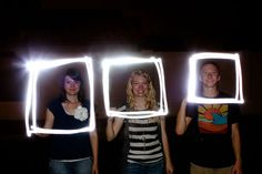 Frame Your Subjects Using Flashlights