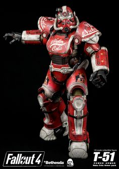 Fallout 4: T-51 Power Armor – Nuka Cola Armor Pack is available for pre-order at www.threezerohk.com starting from NOW and for a limited time only. Price: 120USD / 935HKD with Worldwide Shipping included in the price. You can find more images and full description in this album here: https://www.facebook.com/media/set/?set=a.1959145094111309.1073741999.697107020315129&type=1&l=083f56f714 #threezero #Fallout #Fallout4 #FO4 #Bethesda #BethesdaSoftworks #PowerArmor #NukaCola #collectible #toy…