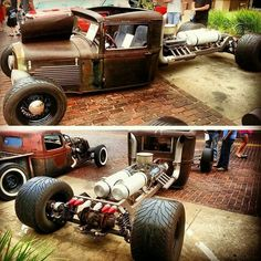 Photos, Ideas and Hot Rod Lifestyle ~ Roadkill Customs Rat Rods, Rat Rod Cars, Custom Trucks, Custom Cars, Volkswagen, Hot Rides, Unique Cars, Vintage Trucks, Cool Trucks