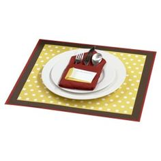 paper placemats - great idea - laminate wrapping paper!  inexpensive and CUTE with the right paper!