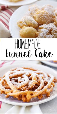 Funnel Cake These homemade funnel cakes are a delicious fair treat that you can now make at home!These homemade funnel cakes are a delicious fair treat that you can now make at home! Funnel Cake Recipe Easy, Homemade Funnel Cake, Easy Cake Recipes, Easy Desserts, Baking Recipes, Cookie Recipes, Winter Desserts, Deep Fried Desserts, French Dessert Recipes