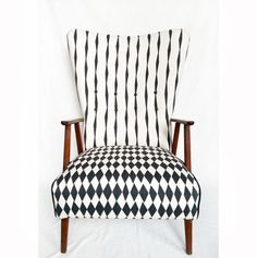The Skinny laMinx 'Brancusi Stripe' and 'Rough Diamond' designs working beautifully together. Give a new lease of life to your furniture with our Fabric by the metre.