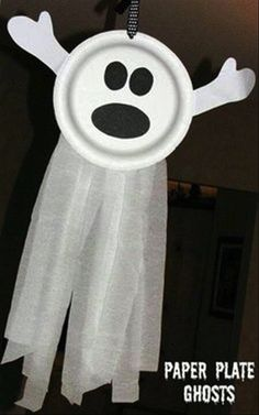 DIY Paper Plate Ghosts Pictures, Photos, and Images for Facebook, Tumblr, Pinterest, and Twitter