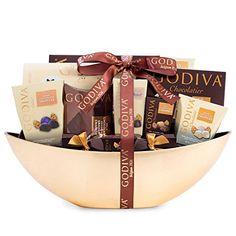 Godiva Chocolatier Christmas Gift Basket - http://www.christmasshack.com/christmas-gift-baskets/godiva-chocolatier-christmas-gift-basket/