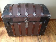 Steamer Trunk  Victorian Humpback  ornate by AngelinaNikon on Etsy