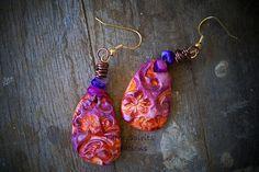 polymer clay earrings by threspiritscreations, via Flickr