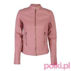 Różowa kurtka skórzana Oodji #polkipl