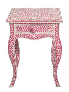 Melody Bone Inlay End Table by nuLOOM on Gilt Home