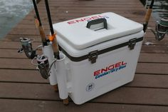 bba2c41b4c6b01 Engel 30qt Cooler/DryBox w/ Rod Holders Rod Holders, Adventure Gear, Marine