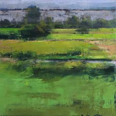West Fields by Douglas Fryer Impressionist Landscape, Abstract Landscape Painting, Landscape Paintings, Green Landscape, Landscape Art, Pinturas Color Pastel, Beautiful Paintings, Art Oil, Painting Inspiration