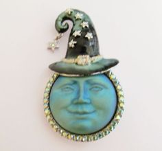 Kirks-Folly-SEAVIEW-MOON-WITCH-WIZARD-Large-Pin-Pendant-Enhancer-NEW-NEVER-WORN