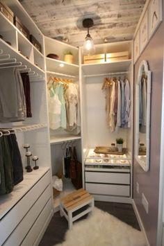 Organizing Walk In Closet, Walk In Closet Small, Walk In Closet Design, Bedroom Closet Design, Master Bedroom Closet, Closet Designs, Diy Bedroom, Bedroom Organization, Master Bedrooms