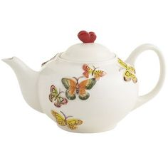I love tea pots and I love butterflies! They have great teapots! Pier 1 Colorful Butterfly Teapot
