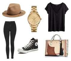 """Cool Girl"" by koala105 ❤ liked on Polyvore featuring River Island, Topshop, Converse, H&M, Lacoste, rag & bone, women's clothing, women's fashion, women and female"