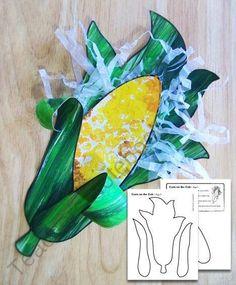 ,Corn Cob Craft. Free Agriculture printable