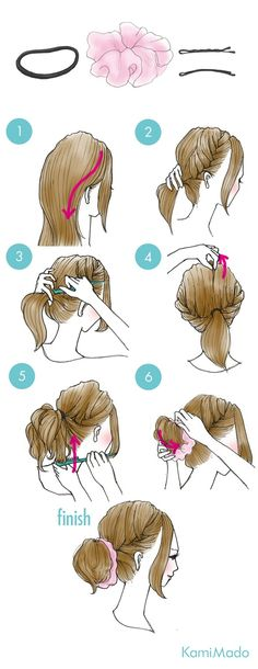 These cute hairstyles are so simple to do and can be done in just minutes! So easy hairstyles are the way forward. Cute Quick Hairstyles, Sweet Hairstyles, Kawaii Hairstyles, Easy Hairstyles For Long Hair, Elegant Hairstyles, Casual Hairstyles, Bob Hairstyles, Braided Hairstyles, Hairdos