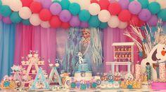 mesa de dulces #Frozenpink