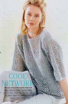 a23231648 Crochet pattern Woman s Cool Network vest by MyPatternsCollection. Vintage  Crochet PatternsPdf PatternsKnitting ...