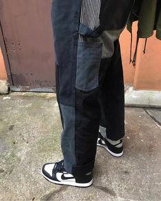 7d2e988c562f0 Junya Watanabe Junya Watanabe X carhartt FW17 black patchwork painter pants  Size 34 - Casual Pants