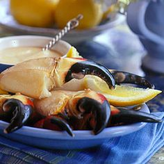30 Mouth-Watering Crab Recipes | Stone Crab Claws with Mustard | CoastalLiving.com // I LOVE crab claws!!