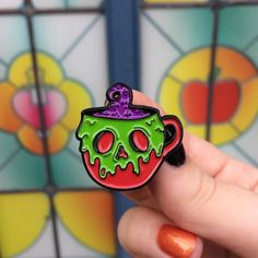 Repost @mysticsistersco  Poison Apple Mug pins! Shop link in our bio    (Posted by https://bbllowwnn.com/) Tap the photo for purchase info.  Follow @bbllowwnn on Instagram for the best pins & patches!