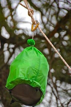 Here is a step by step lesson in how to hang a bear bag...something all backpackers should know!