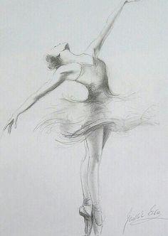 Sketch of a ballerina Sketch of a ballerina Ballerina Kunst, Ballerina Drawing, Ballet Drawings, Pencil Drawings Of Girls, Dancing Drawings, Art Drawings Sketches, Easy Drawings, Drawings Of Ballerinas, Drawing Art