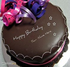 Best 1 Website For Name Birthday Cakes Write Your On Happy Chocolate