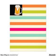 Beer Mug Letterhead #Beer #Mug #Alcohol #Beverage #Stationery #LetterHead