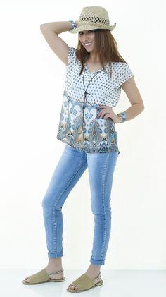 Eros Collection printemps/été 2015 #EROSCOLLECTION #PP15 #SS15 #style #fresh #spring #printemps #blue #jeans #bluejeans #look