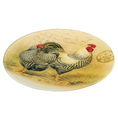 Macon Rooster Plate Décor