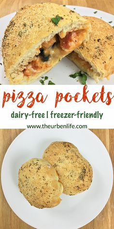 Dairy Free Pizza Pocket #homemade #recipe #dairyfree #vegan #vegetarian #lactoseintolerant #freezerfriendly