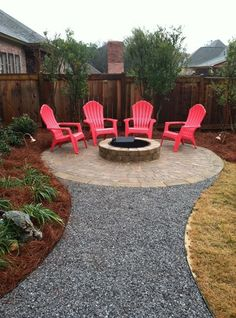 Patio with outdoor fire pit.