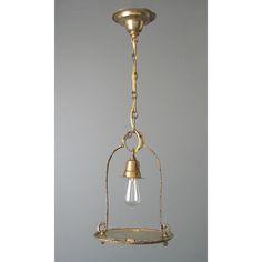 Antique Brass Hall Light Fixture