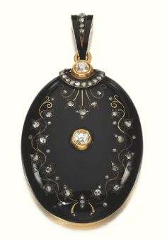 Enamel and diamond pendant locket, circa 1880 - Sotheby's