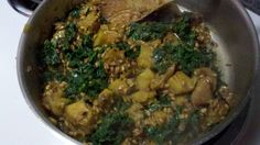 Toasted Farro with Acorn Squash, Kale and Chicken Sausage