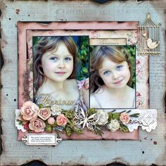 Precious - Would love to be as talented as Sonia Thomason. Mixed Media Scrapbooking, Kids Scrapbook, Vintage Scrapbook, Scrapbook Designs, Scrapbook Sketches, Scrapbook Page Layouts, Scrapbook Cards, Smash Book Pages, Photo Layouts