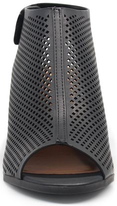7ca29a7bcbac MARCOREPUBLIC Marco Republic Tuscany Womens Peep Toe Slingback Ankle Strap  Perforated Cutout Chunky Block Stacked Heels