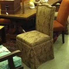Parsons Chair Covered With Camel Back Used Set Of 4 $600
