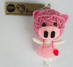 Piggy !!! Diy Voodoo Doll Keychain, Diy Voodoo Dolls, Presents, Charmed, Christmas Ornaments, Holiday Decor, Cute, Handmade, Gifts