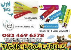 Enter to win labels for your child's school items.   http://www.parentinghub.co.za/competitions/2766-2/