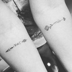 (notitle) - Tattoos - #notitle #Tattoos Mommy Tattoos, Friend Tattoos, Couple Tattoos, Mini Tattoos, Small Tattoos, Tattoo Pai E Mae, Piercing Tattoo, Piercings, Selfies