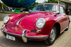 Hot pink! no way! Porsche 356 C by LeicaShooter2000, via Flickr