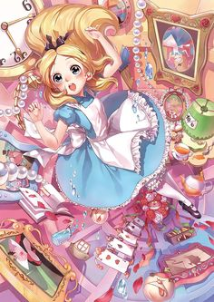 Tenyo Disney Alice in Wonderland, Smallest pieces in the world 1000 pcs. Gifts Online Today - sell Japan jigsaw puzzle, classic and out of print jigsaw puzzles to worldwide. Disney All Characters Collection - Japanese jigsaw puzzle from Japan. Anime Chibi, Kawaii Anime, Cartoon As Anime, Loli Kawaii, Anime Disney Princess, Disney Princess Drawings, Disney Drawings, Disney Kunst, Arte Disney