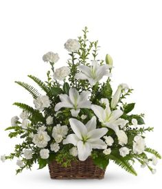 funeral floral arrangement - http://socialrupture.tumblr.com/post/75774092992/how-to-choose-sympathy-flowers-to-send-to-a-home