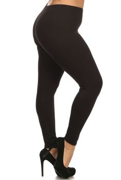 Black Women/'s Fashion Fleece Lined Ankle Leggings Stretchy Elastic Waist