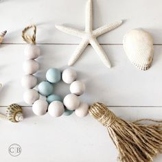 Thinking about summer finishing touches for your home? Imagine this pastel mint and white hand dyed wood bead garland with a jute tassel on your vignette or your coffee table next to summer flowers from your garden. When I was selecting this pale mint chalk paint I wanted to give